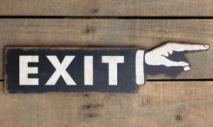 Directional Custom Branded Exit Sign