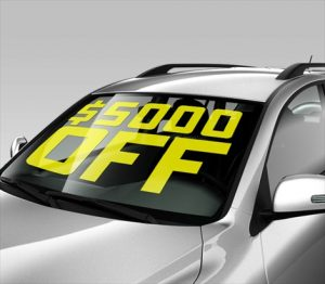 Cut Vinyl Lettering for Car Windshields & Windows