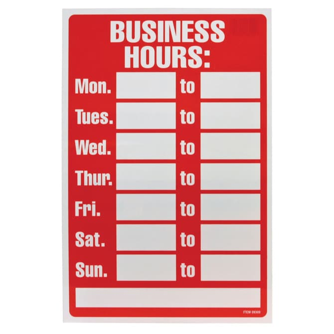 Hours Of Operation Signs By Bethel Signs Graphics Marietta Ga