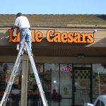 LIttle Ceasar's Backlit Channel Letter Sign Installation