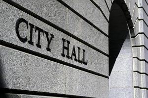 City Hall Custom Engraved Stone Construction Blocks
