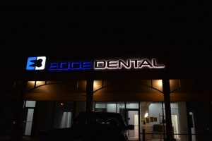 Backlit Dental Office Building Sign