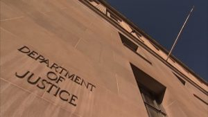 Department of Justice Etched Stone Sign