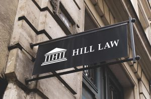 Protruding Sidewalk Storefront Law Office Building Sign
