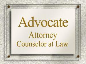 Custom Attorney Office Plaque Sign