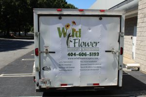 Custom Wild Flower Back Trailer Door Wrap