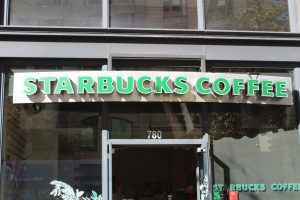 Starbucks Backlit Channel Lettering Business Sign