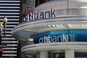 Citibank Channel Letter Roof Sign