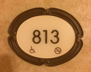 room identification sign