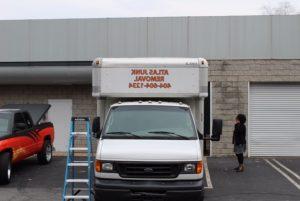 Custom Box Truck Vinyl Lettering