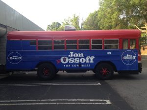 Custom Political Bus Wrap