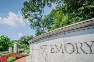 Custom Stone College Monument Sign