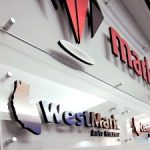 Hanging Signs lobby dimensional indoor logo 300x225 150x150
